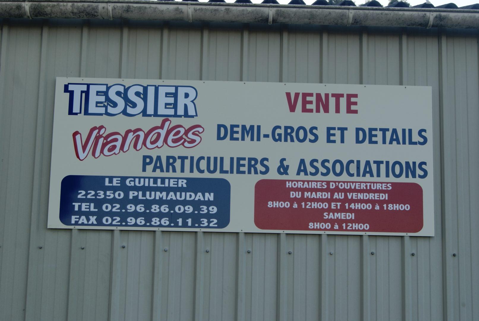 Tessier Viandes, contact et plan